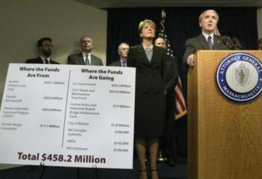 US Attorney Michael J. Sullivan spoke in 2008 at a news conference with Attorney General Martha Coakley about a settlement over a fatal tunnel ceiling collapse.